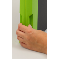 Large grip makes it easy to grip off the shelf