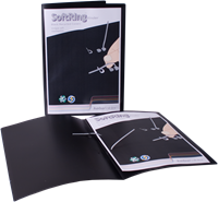 KEBAfolder Softring binder;grey rings/black cover with pocket 1x70