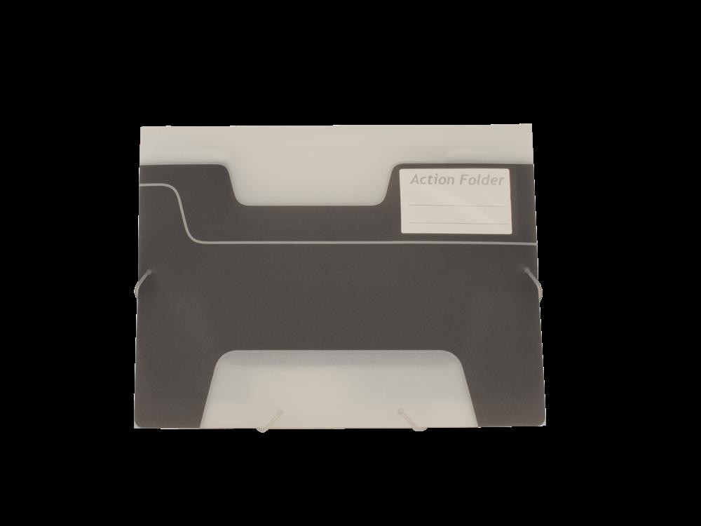 Kebafolder Action Folder Graphite With Label Pocket