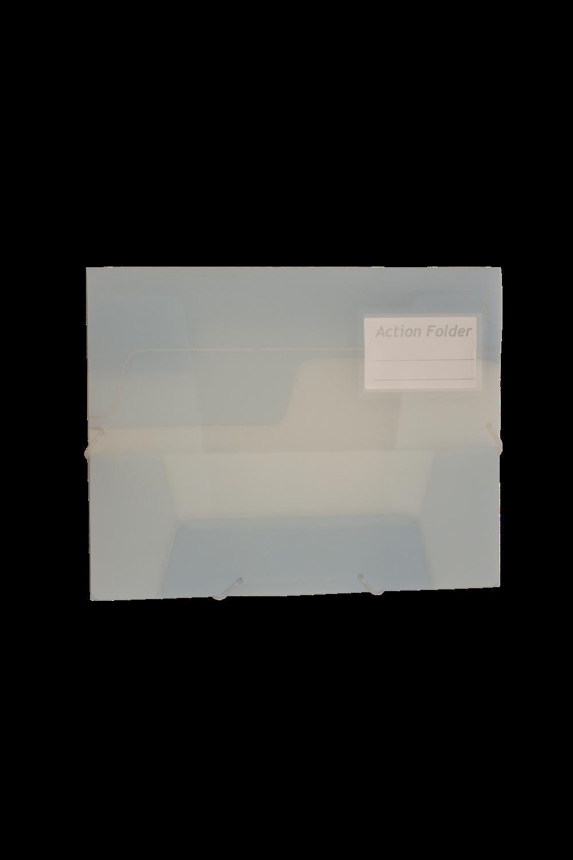 Kebafolder Action Folder Ice Grey With Label Pocket