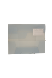 KEBAfolder Action Folder;Ice grey, with label pocket