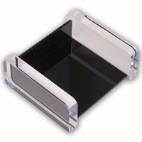 KEBAdesk memo holder;Black/Transp